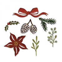 Sizzix Thinlits Die Set 9PK by Tim Holtz - Festive Greens