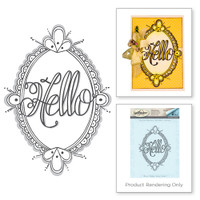Spellbinders Stamps  Tammy Tutterow Collection :  Hello Ornate