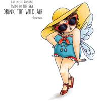 Stamping Bella Edna Cling Stamp - Edna Loves The Ocean