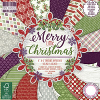 "TrimCraft First Edition Premium Paper Pad 6""X6"" 64/Pkg - Merry Little Christmas"