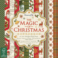 "TrimCraft DoveCraft Paper Pack 6""X6"" 72/Pkg - The Magic Of Christmas"