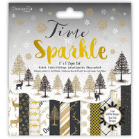 "TrimCraft DoveCraft  6""X6"" Paper Pack 72/Pkg - Time To Sparkle"