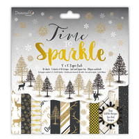 "TrimCraft DoveCraft Time To Sparkle 8""X8"" Paper Pack 48/Pkg"