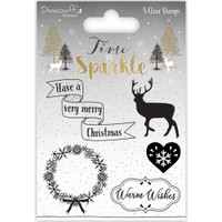 TrimCraft DoveCraft Time To Sparkle Clear Stamps - Warm Wishes