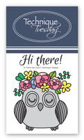 Technique Tuesday Clear Stamps 2X2.5 - Hi There Owl