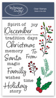 Technique Tuesday Clear Stamps 4X6 - Spirit of December