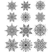 Tim Holtz Cling Mount Stamps - Mini Swirl Snowflakes