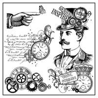 Stamperia High Definition Rubber Stamp -  Steampunk Man