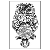 Stamperia High Definition Rubber Stamp -  Owl