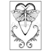 Stamperia High Definition Rubber Stamp -  Dragonfly Heart