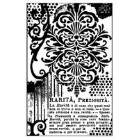 Stamperia High Definition Rubber Stamp -  Decoration with Writings