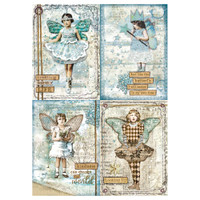 Stamperia Rice Paper Decoupage - Blue Stars Cards