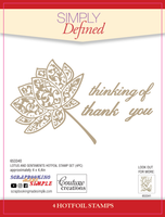 Simply Defined HotFoil Stamps - Beauty Collection, Lotus and Sentiments