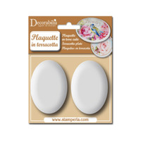 Stamperia Plaquette - Medium Oval 2/pk