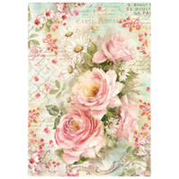 Stamperia Rice Paper Decoupage - Roses And Daisies