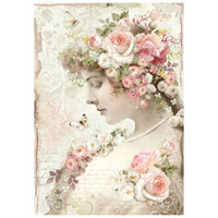 Stamperia Rice Paper Decoupage - Floreal Profile Roses