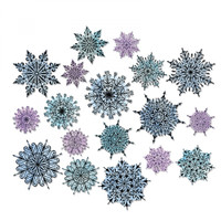 Sizzix Framelits Swirly Snowflakes (Works  With Stamps Sets CMS-319 & CMS-320)