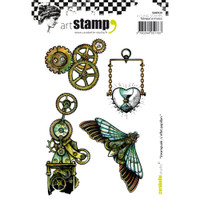 Carabelle Studio Cling Stamp A6 - Steampunk: Butterfly Effect