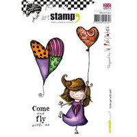 Carabelle Studio Cling Stamp A6 By La Rafistolerie - Little Girl With Balloon