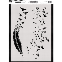 Carabelle Studio Template A4 - Feathers & Clouds Of The Birds