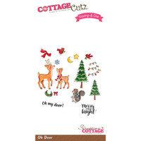 CottageCutz Stamp & Die Set - Oh Deer