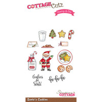 CottageCutz Stamp & Die Set - Santa's Cookies