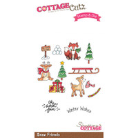 CottageCutz Stamp & Die Set - Snow Friends