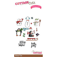 CottageCutz Stamp & Die Set - Snow Fun