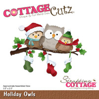 Cottagecutz Die Set -  Holiday Owls