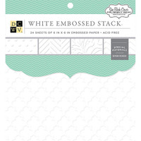 "DCWV Single-Sided Cardstock Stack 6""X6"" 24/Pkg - Embossed White Solid"
