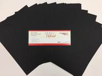 Simply Defined Heavy Weight 100lb Paper Pack - Smooth Black, 25 Sheets
