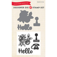 Echo Park Dies and Stamps - Hello Again