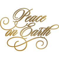 Couture Creations Anna Griffin Hotfoil Plate - Peace On Earth