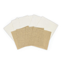 Spellbinders Platinum Pack 1 - 6 in x 6 in Burlap & Canvas Sheets (9 Pieces)