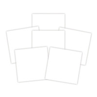 Spellbinders Platinum Pack 6 - 6 in x 6 in White Adhesive Sheets (6 Pieces)