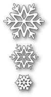 Memory Box PoppyStamps Dies - Shiny Snowflakes