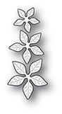 Memory Box PoppyStamps Dies - Poinsettia Mini