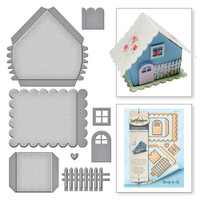 Spellbinders Shapeabilities Build A House Etched Dies from the Joyous Celebrations Collection by Sharyn Sowell