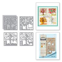 Spellbinders Shapeabilities Four Seasons Silhouettes Etched Dies Four Seasons by Lene Lok