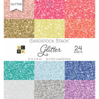 "DCWV Single-Sided Cardstock Stack 6""X6"" 24/Pkg - Glitter"