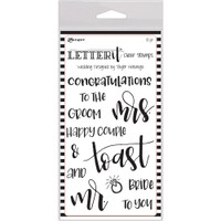 "Ranger Letter It Clear Stamp Set 4""X6"" - Wedding"