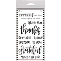 "Ranger Letter It Clear Stamp Set 4""X6"" - Thank You"