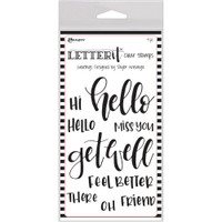"Ranger Letter It Clear Stamp Set 4""X6"" - Greetings"