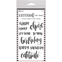 "Ranger Letter It Clear Stamp Set 4""X6"" - Birthday"