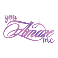 Couture Creations GoPress Foil Hotfoil Stamps, Everyday Sentiments - Amaze Me