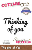 CottageCutz Expressions Die - Thinking Of You