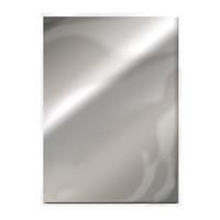 Tonic Studios Craft Perfect Mirror Card High Gloss Card A4 - Chrome Silver - 5 Pk