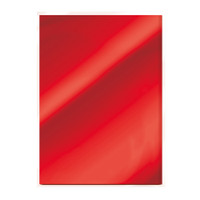Tonic Studios Craft Perfect Mirror Card High Gloss Card A4 - Ruby Red - 5 Pk