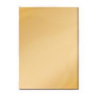 Tonic Studios Craft Perfect Mirror Card Satin Effect Card A4 - Honey Gold - 5 Pk