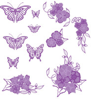 Simply Refined Dies - Garland Affections Collection, Contour Plus Florals and Flutters (Not Part of the Bundle)